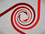 Red Spiral Arrows