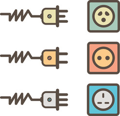 electrical sockets retro design