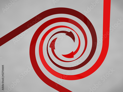 Papiers peints Spirale Red Spiral Arrows