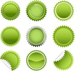 green starbursts set