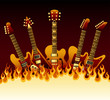 guitars in flames