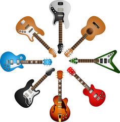 guitars circle