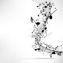 Fond musical abstrait avec des notes