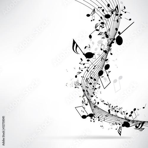 abstrakcyjne tło muzyczne z nutami