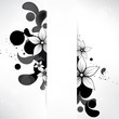 Abstract background with floral elements