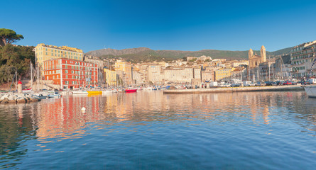panorama du port de Bastia, Corse