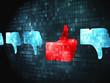Social media concept: Like, Unlike on digital background