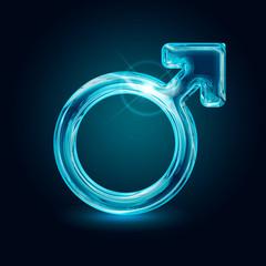 shining male symbol