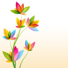 "vector template ""colorful flowers"""