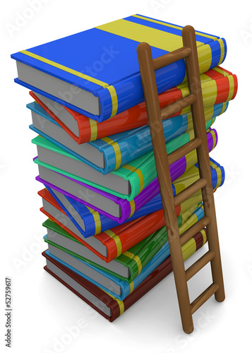 BOOK AND LADDER - 3D