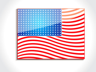 abstract glossy american flag