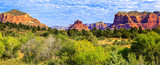 Panoramic view of famous red rock