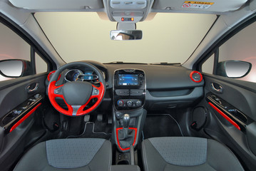 interior of the modern car