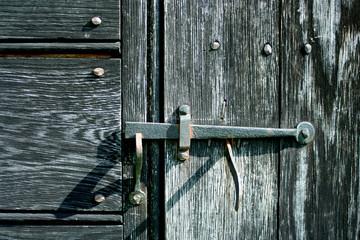 Old iron door latch