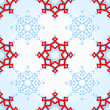 Abstract geometric snowflake