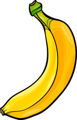 banana fruit cartoon illustration