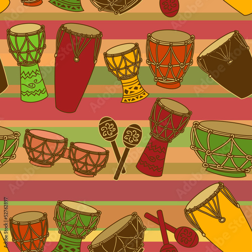 Seamless pattern of percussion