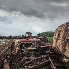 construction junkyard