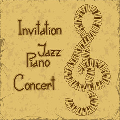 Invitation to piano concert