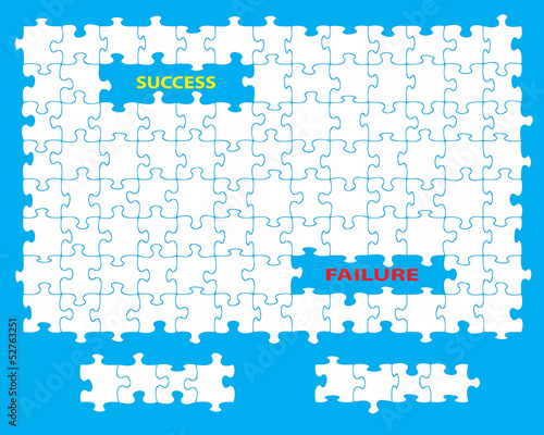 Success failure jigsaw