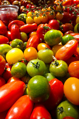 Green tomatoes at market