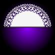 Vector white napkin on purple background