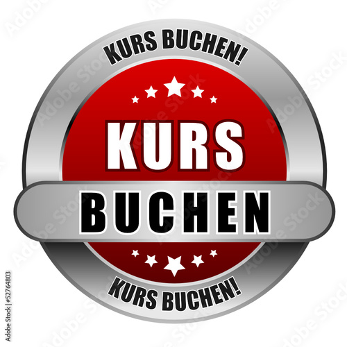 5 Star Button rot KURS BUCHEN KB KB