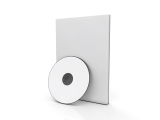 blank software box with cd