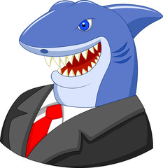 Business shark cartoon