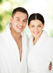 couple in spa