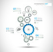 Infographic design template with gear chain