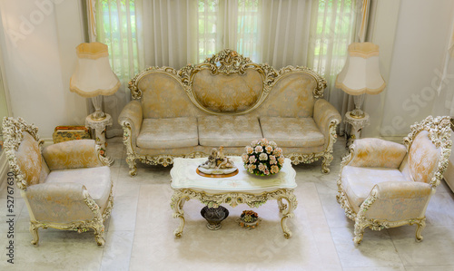 Upper angle of a luxurious living room