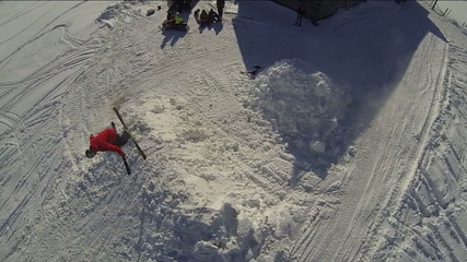Aerial Skiier Backflip