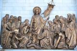 Скульптурная композиция на Храме Христа Спасителя.