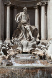 The Trevi Fountain  in Rome.