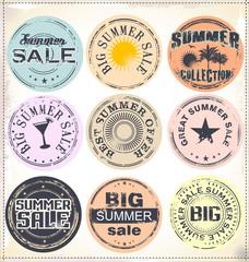 Summer vacation grunge rubber stamp