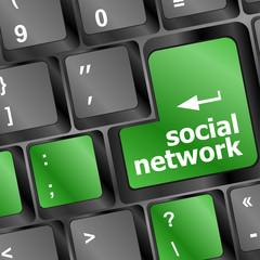 Social media network keyboard button