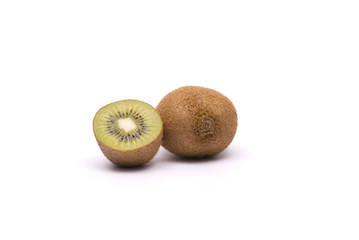 Whole kiwi and half of kiwi