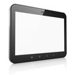 Black abstract tablet computer (tablet pc) on white background,