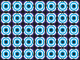 wallpaper shapes - blue on black