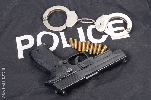 police concept with handcuffs