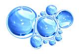 Vector water bubbles
