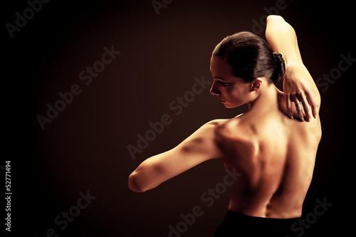 Fototapeten,nackt,arm,brünett,ballet