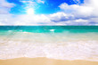 canvas print picture - Karibischer Strand und Sonnenschein.