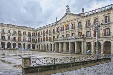 Spanish Square in Vitoria ,spain