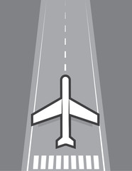 Airplane landing or taking off of runway