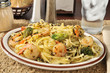 Shrimp scampi with broccoli