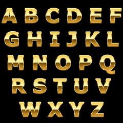 Golden metallic shiny letters