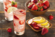 Refreshing Ice Cold Strawberry Lemonade - 52773051