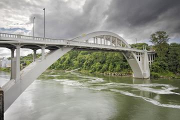 Oregon City Bridge Over Willamette River
